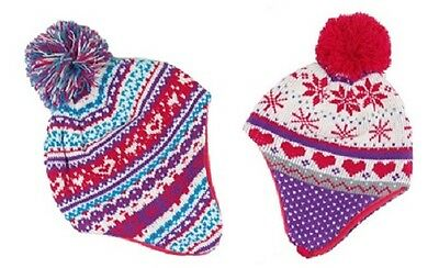 Kids Warm Hat Beanie With Bobble & Fleece Lining Age 1 - 4 Yrs