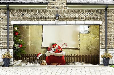 3d Garage Door Covers Christmas Decorations Outdoor Wall Banners Outside GD25
