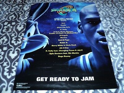 SPACE JAM Official Movie Theater Banner Large Size MICHAEL JORDAN  Buggs bunny