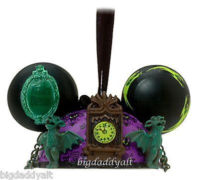 New Disney Parks Haunted Mansion Mickey Ear Hat Christmas Ornament