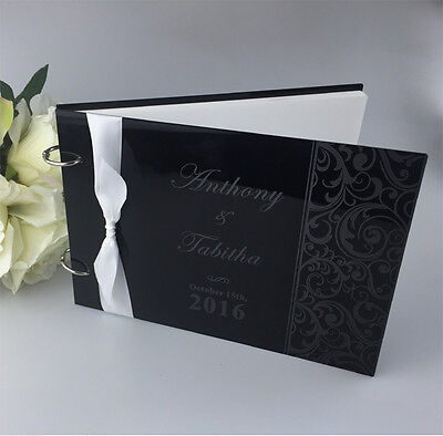Personalized Damask Guest Book Wedding Party Engagement Part Guest Book-Acrylic