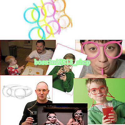 2016 Novelty Fun Drinking Unique Flexible Soft Glasses Straw Glasses Drink Tube