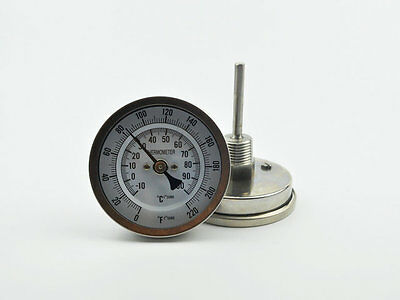 homebrew bi metal thermometer  2inch probe retail and wholesale