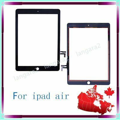 For IPAD 5 air Digitizer Touch Screen Front Glass Replacement Black