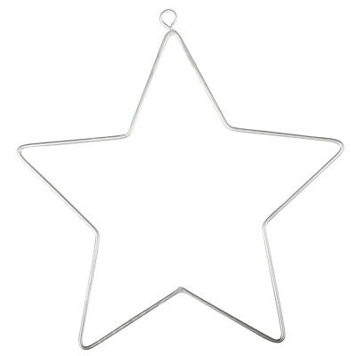 2 Hanging Wire Stars for Decoration | Metal Wire & Craft Hoops