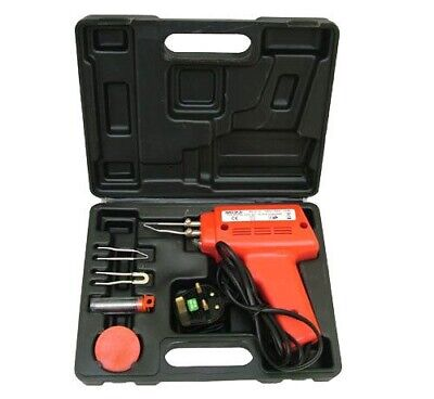 100W Electric Soldering Iron Solder Gun Set + 3 Tips + Case 100 Watt 240V