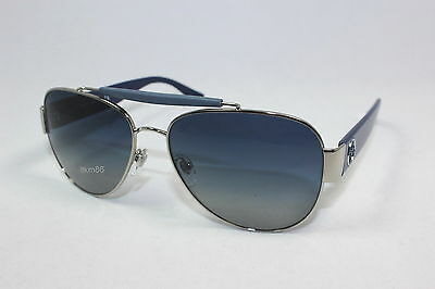 f3bd64562779 Authentic TORY BURCH TY6043Q-3116 4L Silver Navy   Navy Grey Gradient  Sunglasses