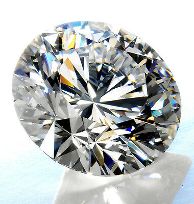 High Quality Super Royal Cubic Zirconia Round Clear Loose Stone - Hand Cut