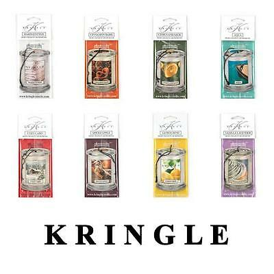 Kringle Candle Car Air Freshener Scented Cardboard Variety