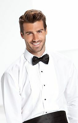 White Lay Down Collar Formal Tuxedo Shirt - most mens and boys sizes available