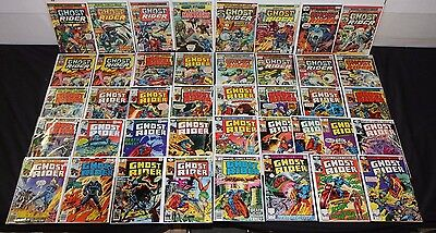 VINTAGE MARVEL BRONZE GHOST RIDER COMIC COLLECTION LOT 41pc (7.5 - 9.2)