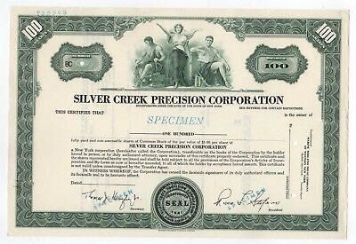 SPECIMEN - Silver Creek Precision Corporation Stock Certificate