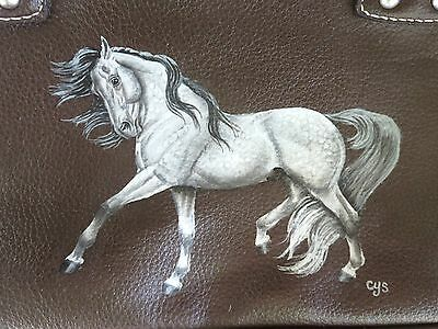 "Andalusian Horse "" Esprit "" Hand Painted On Purse / Handbag"