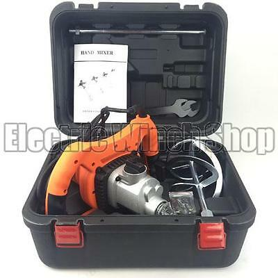 Warrior Power Products 1800W 110v Plaster Paint Mixer with Carry Case
