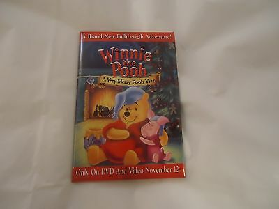 Winnie the Pooh A Very Merry Pooh Year Promotional Pin Button Pinback