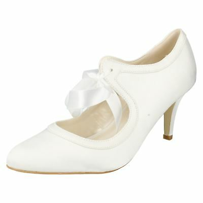 Anne Michelle F9755 Ladies Ivory Satin Shoes UK Sizes 3 x 8 (13A)