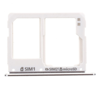 Dual SIM Micro SD Card Tray Slot For Samsung Galaxy A3 A5 A7 (2016) Silver