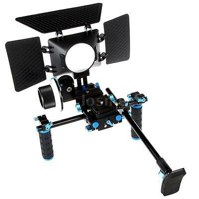Matte Box Sunshade for 15mm Rail Rod Support DSLR Camera and Camcorders NEW A8C8