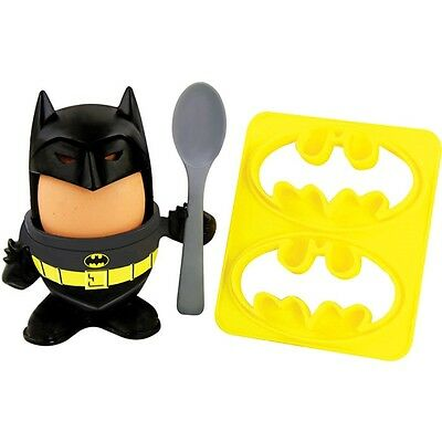 Official DC Comics Batman Egg Topper, Egg Cup and Toast Cutter - Boxed Gift Cool