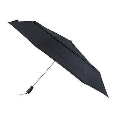 Totes Bigtop Auto Open/Close Windproof Double Canopy Umbrella Extra Wide