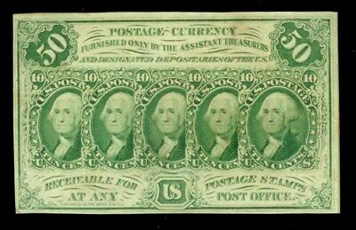 1862 - 1863 Fifty Cents Fr #1312 Fractional Currency First Issue Note Au