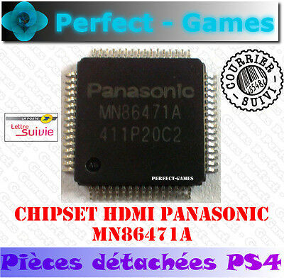 Chipset chip IC CI HDMI transmitter control PANASONIC MN86471A Console SONY PS4
