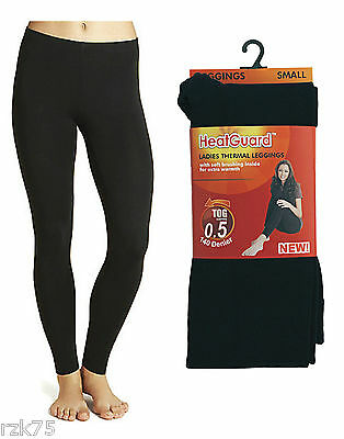 Ladies Black Thermal Footless Tights with Soft Brushed Inner, Winter 140 Denier
