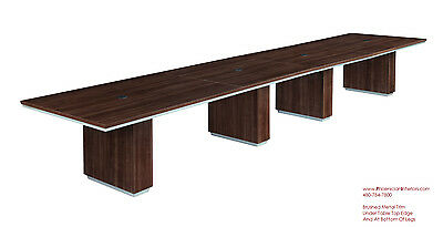 FOOT BOAT Shaped Expandable Conference Table With GROMMETS And - 18 foot conference table