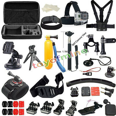 37in 1 Accessoires Support Set pour Gopro Hero 4 3+ Sac Bandeau Monopode Harnais