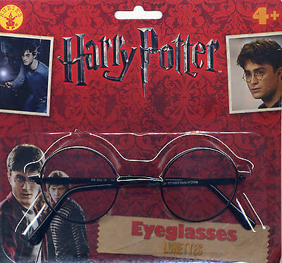 Rubies 9705 Harry Potter Child Glasses Logo Licensed Tags Wire Rims Plastic Lens