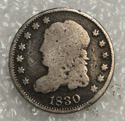 1830 Capped Bust Half Dime ungraded