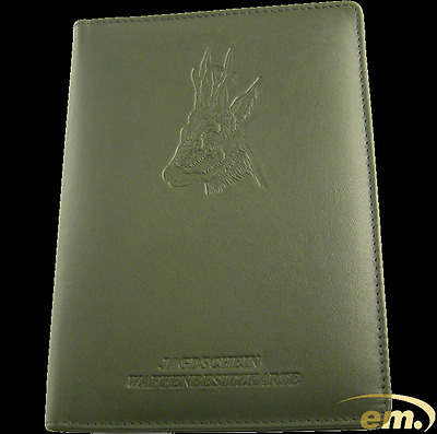 Hunting license Case Wallet made of Cow hide with Transparent fan