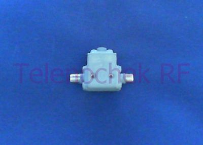 RF microwave single junction isolator 7400 MHz - 18.0 GHz /  10 Watt / data