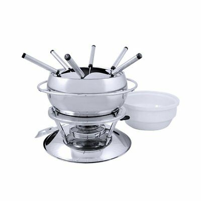NEW Swissmar Zuri 11pc Fondue Set Stainless Steel (RRP $289)