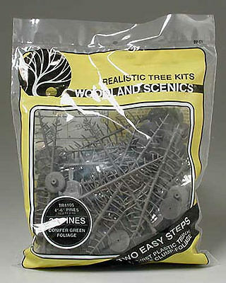 "Woodland Scenics TR1105 N/HO Pine Trees 4x6"" (24) Train Scenery"