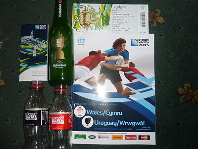 rugby union world cup 2015 program from match 7,used ticket, spectators guide