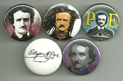 Edgar Allan Poe 1.5 inch Pins / Buttons or Magnets The Raven