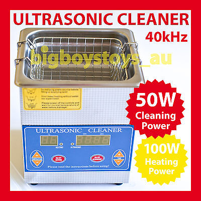 1.3L Digital Ultrasonic Cleaner * Stainless Tank * Heater * Jewellery *fast Post