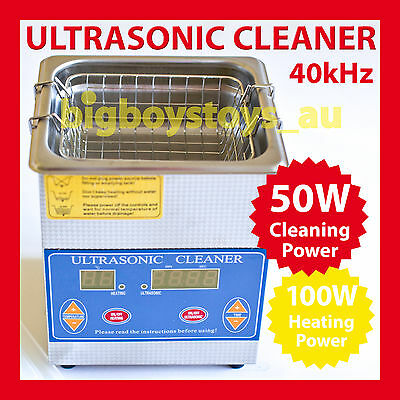 1.3L Digital Ultrasonic Cleaner * Stainless Tank * Heater * Jewellery 1.3 Litre