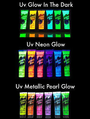 Uv Neon Glow Face Paint Uv Metallic Pearl Set Glow In The dark Set
