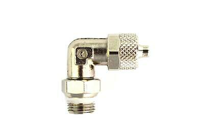 """4/6mm Tubing Compression Fitting to 1/8"""" Male Elbow"""