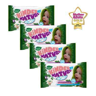 x4 Pack Unscented Organic Baby Wipes Biodegradable Compostable