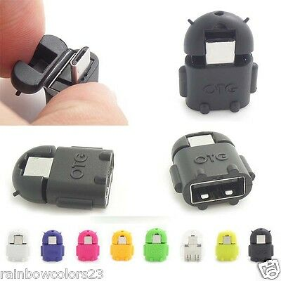 2 pcs Micro usb to USB 2.0 robot shape for OTG adapter for smartphone/tablet/PC