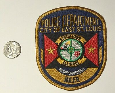 City Of East St. Louis Illinois Police Department Jailer Patch Il