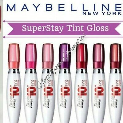 Maybelline Super Stay 10H Tint Gloss 10.5ml AMAZING COLOURS - NEW + FREE POST
