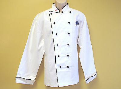 New Nfl Detroit Lions Premium Chef Coat 100% Cotton L Size Football Chief