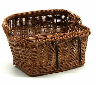 Bike Basket Wicker Large Handmade Willow Bicycle Carrier Travel Cycling Shopping