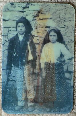 2D Holy Card, Fatima, Children, Image Changing, Printed In Italy