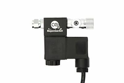 CO2 Solenoid Valve with Integrated Needle Valve for Planted Aquariums
