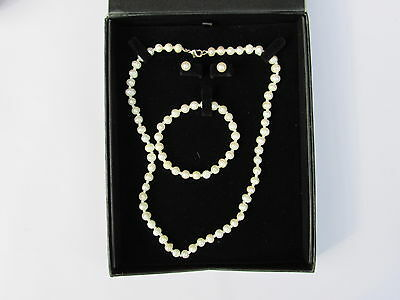 Pink Pearl Boxed Jewellery Set